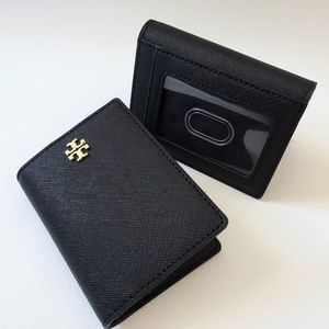 NEW Tory Burch Card Case Holder Leather Wallet